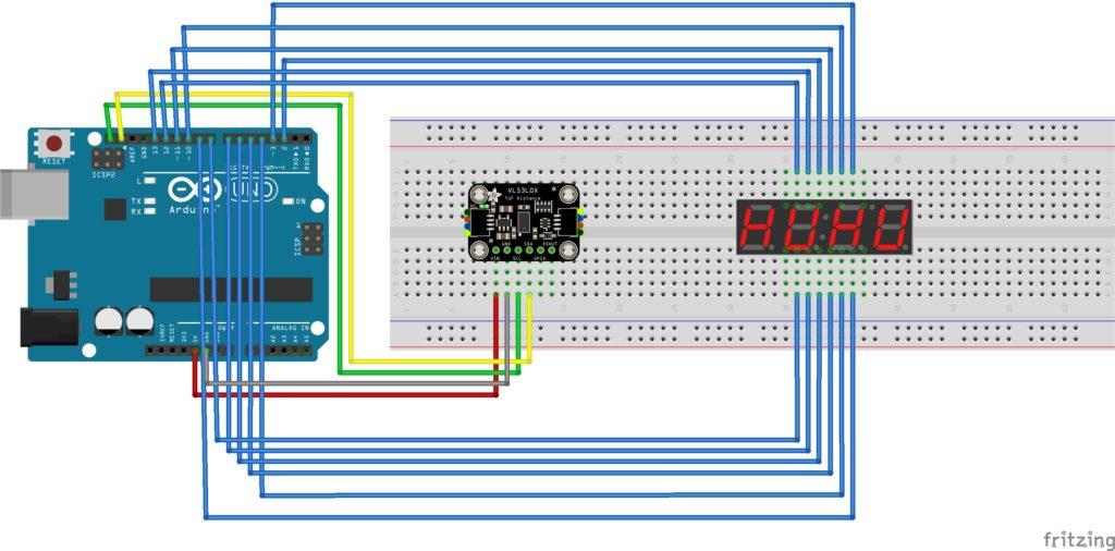 LEDとセンサの配線図